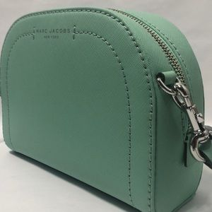 Marc Jacobs Green Playback Leather Crossbody Bag